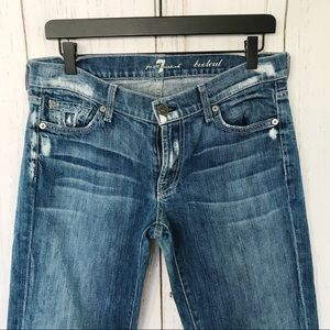 7 For All Mankind - Bootcut Distressed Jeans